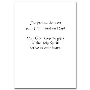 To a Fine Son as he is Confirmed