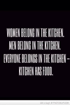 everyone in the kitchen!