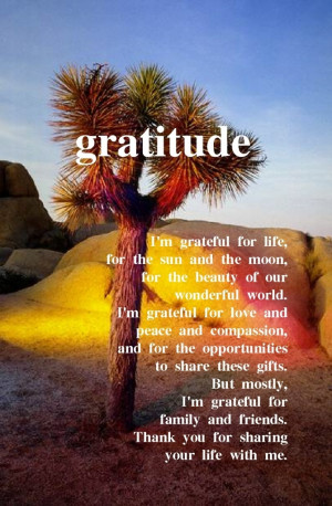 grateful for family and friends | Be Inspired