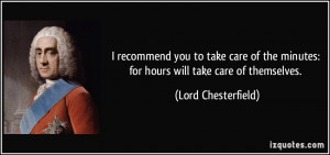 recommend you to take care of the minutes: for hours will take care ...