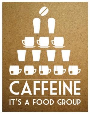 Caffeine – It's a Food Group