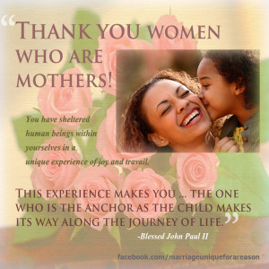 Visit our Facebook page to share this quote with mothers you know!