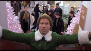 Elf Will Ferrell Santa Buddy elf escalator scared