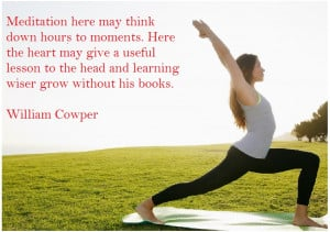 William Cowper International Yoga Day Quotes