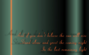 The Last Remaining Light - Audioslave Song Lyric Quote in Text Image