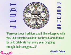 Passover Greetings Quote Image Passover is our tradition By Poetrysync