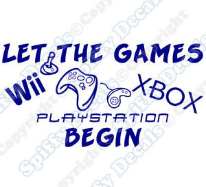LET-THE-GAMES-BEGIN-XBOX-PLAYSTATION-NINTENDO-Quote-Vinyl-Wall-Decal ...