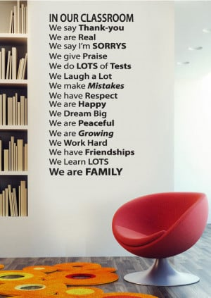 Wall Decal quote - In Our classroom - Vinyl Wall Art Quote
