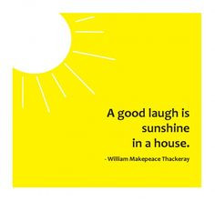 Brighten someone's day with a smile and laughter. #quote #sunshine ...