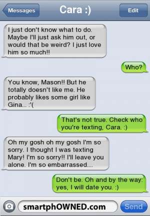 Poor thing texted the wrong person