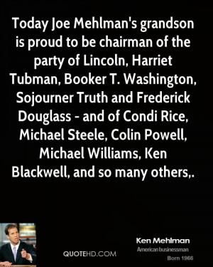 Today Joe Mehlman's grandson is proud to be chairman of the party of ...