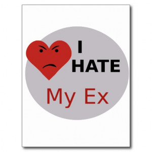 Hate My Ex Postcard
