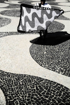 The famous pattern on the sidewalk was designed by Roberto Burle Marx