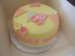 1st birthday cake and 90th birthday cake