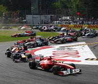 ... bestraft, doch der Italiener sieht die Schuld bei Heikki Kovalainen