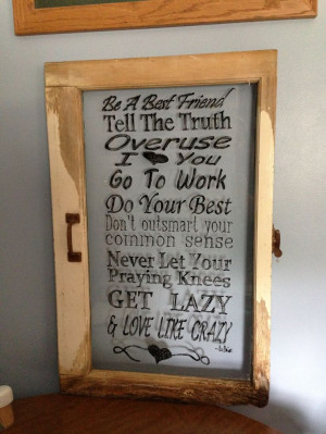 Old Window Quote: Pictures Window, Decor Ideas, Crafts Ideas, Quotes ...