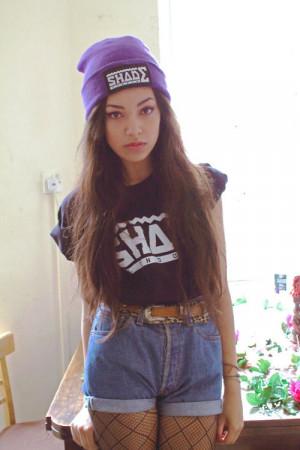 purple girl vans swag girlwithswag black hair