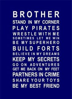 CHILDREN :: Baby Gifts :: Bedroom Decoration :: Brother Poster - Gift ...