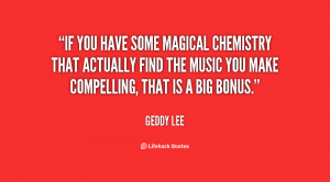 If you have some magical chemistry that actually find the music you ...