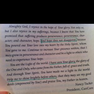 Hope.... Prayer