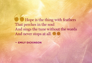 Emily Dickinson Hope Quote