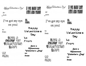 monster valentines day kids valentine sayings funny valentines day ...