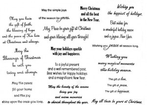 Christmas Greeting Card Verses and Sentiments