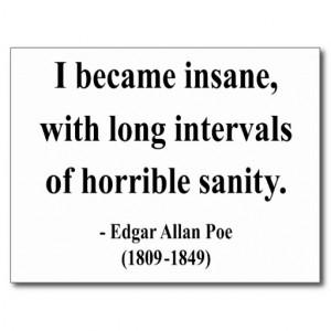 Edgar Allen Poe Quote 2a Postcard