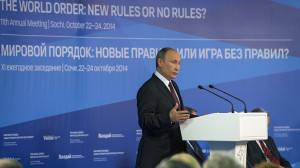 24 October 2014. Russian President Vladimir Putin speaks at the wrap ...