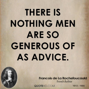 Francois de La Rochefoucauld Men Quotes
