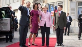 ... Merkel Quotes With Barack And Michelle Obama Photo By Lawrence Jackson