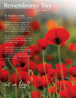 Lest We Forget....Remembrance Day November 11, 2010...of local ...