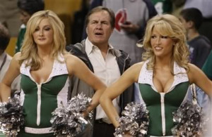 Re: Bill and Stephen Belichick at Celtics game