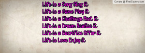 Life Song Sing Game Quotes Funny