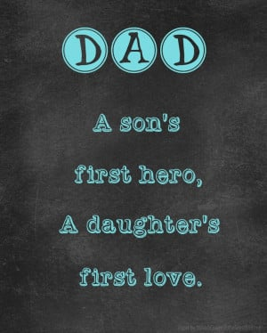 Quotes About Fathers Love Gallery: A Sons First Hero A Daughter First ...