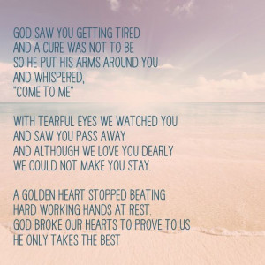 God saw you getting tired: Tattoo Dedication To Mom, Life Quotes, God ...