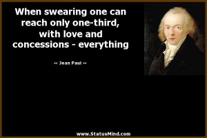 ... love and concessions - everything - Jean Paul Quotes - StatusMind.com