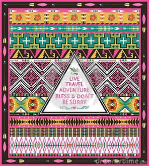Hipster Seamless Tribal Pattern With Geometric Elements Stock Images ...