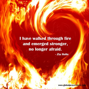 fire and strength quote; poem, fear