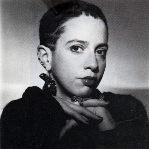 Kathy Acker wearing Cicada Ring by Alex Streeter