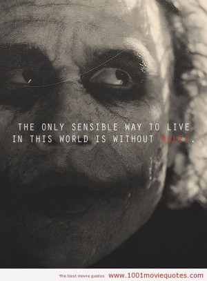 The Joker Smile Quote The dark knight (2008) - quote