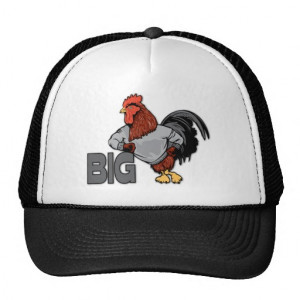 BIG Rooster Chicken - Funny Innuendo Mesh Hat