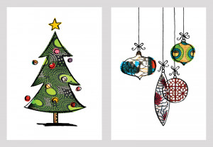 traditional christmas cards designs