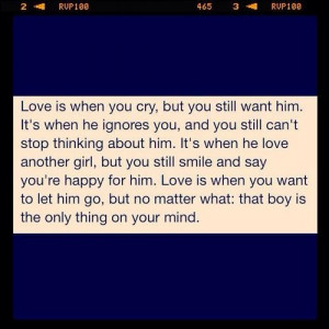 ... thinking about him.Sad Love Quotes About Him, Quotes 3, Love You