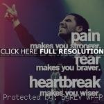 Quotes about heartbreak rapper, drake, quotes, sayings, pain, fear ...