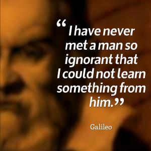 Galileo Leadership Quote