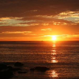 Beautiful Sea Sunset Scene