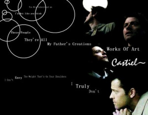 Related Pictures Supernatural Spn Wallpaper Castiel