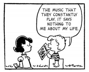 ... das letras do The Smiths com os personagens de Charlie Brown