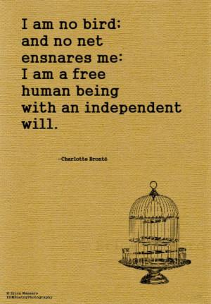 Bird Quotes, Author Bronte, Free Bird Quote, Charlotte Bronte Quotes ...